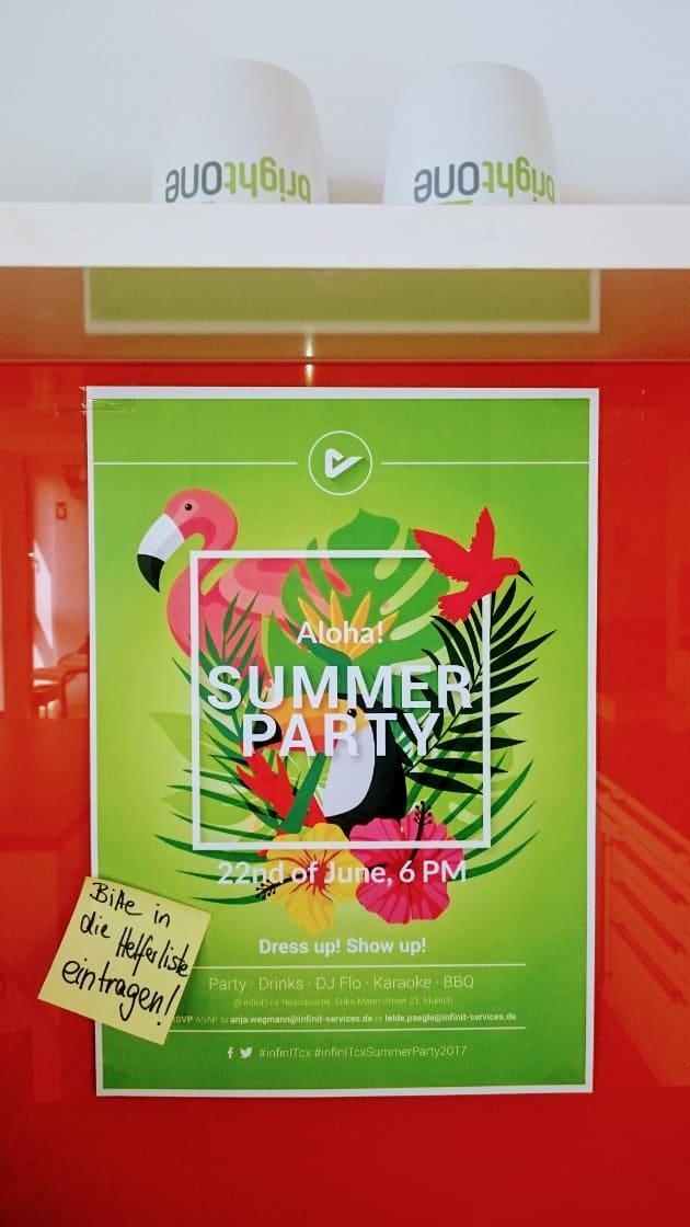 Summerparty & Teile von brightONE stehen Kopf